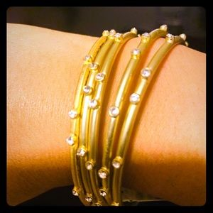 Fashion gold plated bracelet by Natasha designer